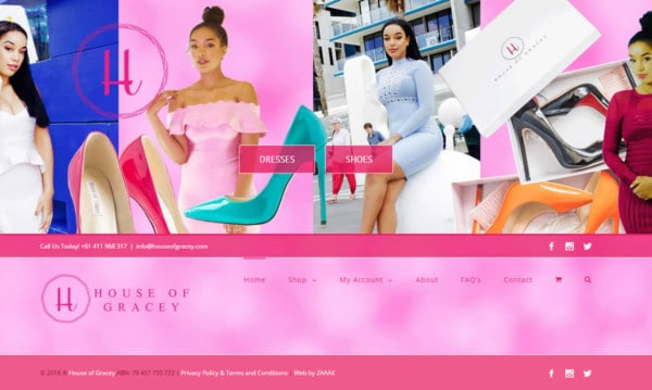 Web Design - House of Gracey
