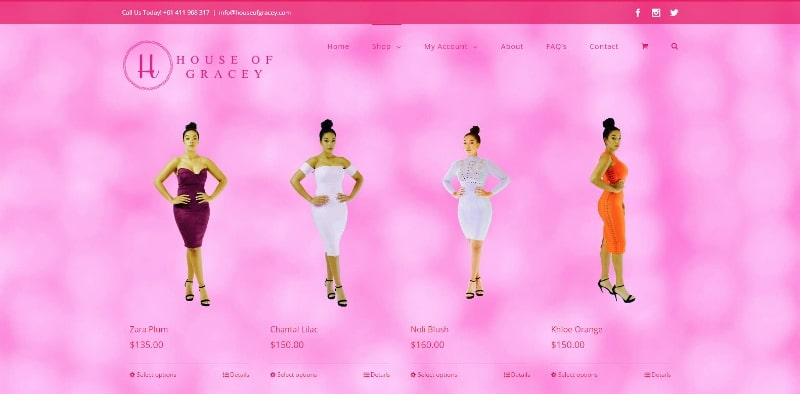ZAAAX Web Design - House of Gracey