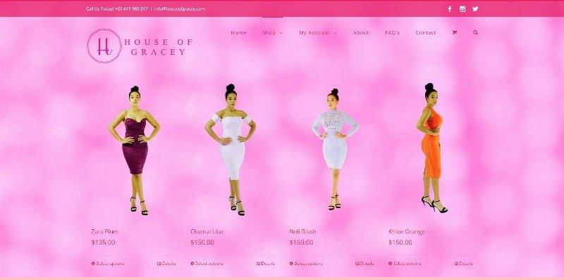 ZAAAX Web Design - House of Gracey