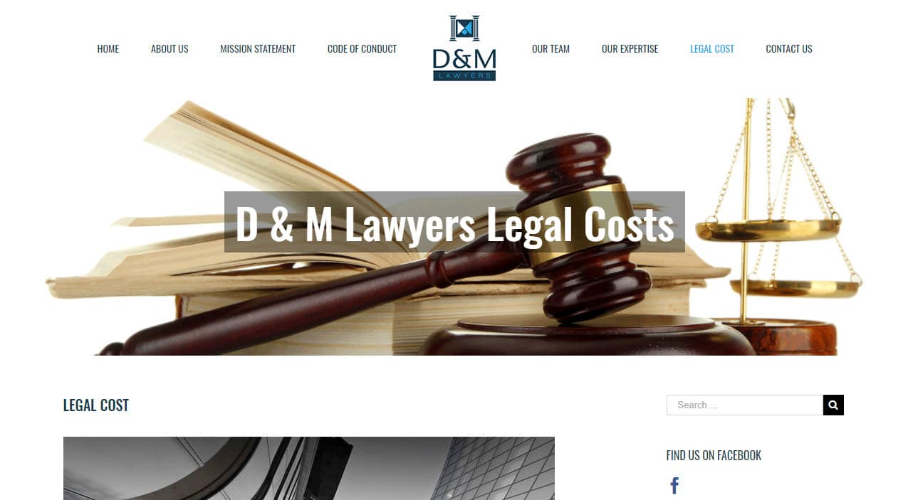 Web Design D&M Lawyers