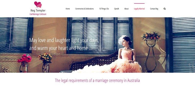 Reg Templer Civil Marriage Celebrant