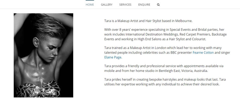 Tara Steel - Makeup Artist & Hair Stylist in Melbourne