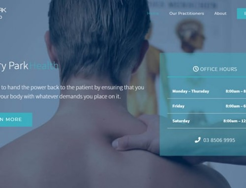 Victory Park Health Web Design
