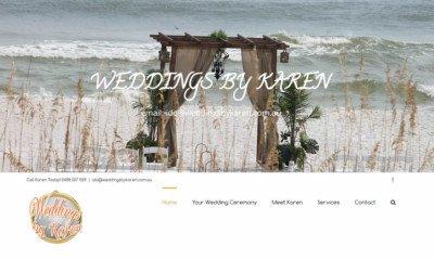 Web Design - Weddings by Karen