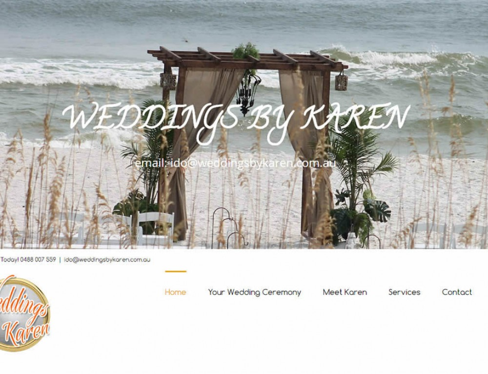 Web Design – Weddings by Karen