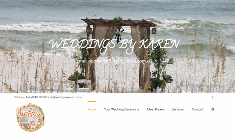 Web Design - Weddings by Karen