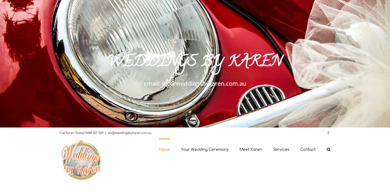 ZAAAX Web Design - Weddings by Karen