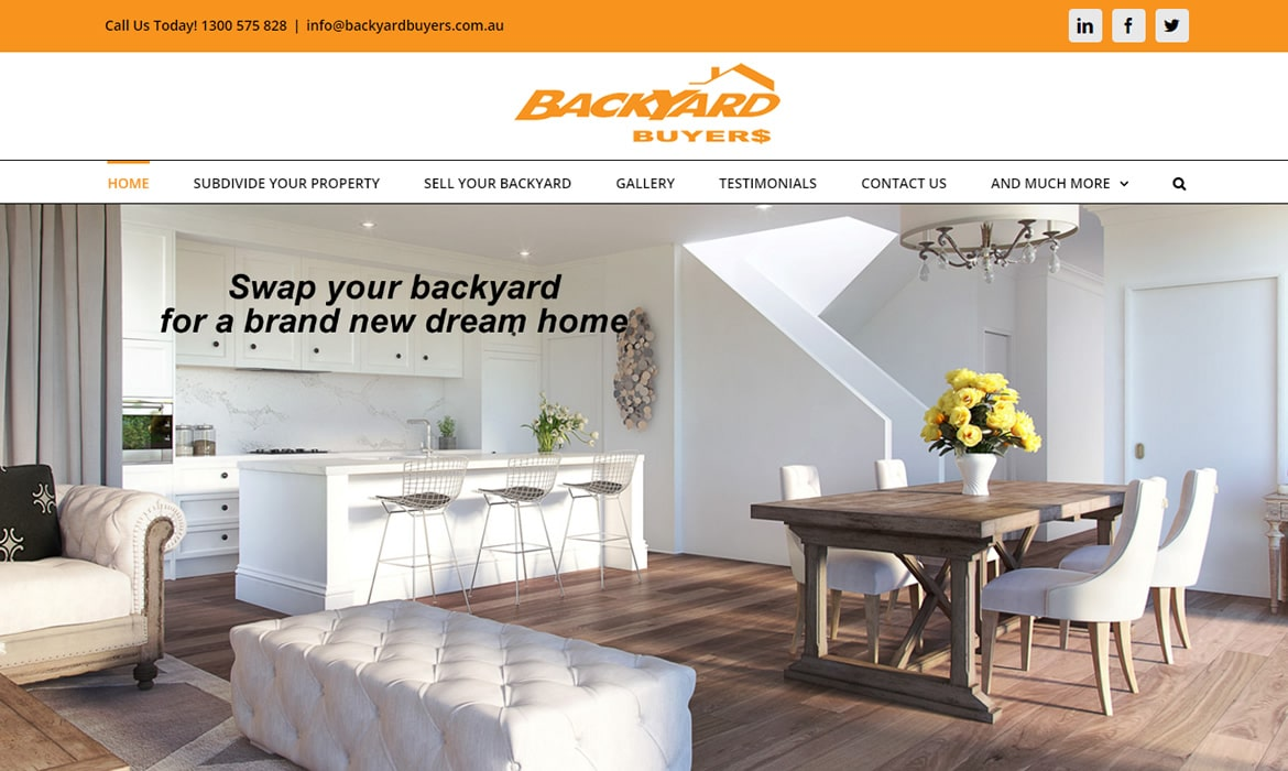 Web Design - Backyard Buyers