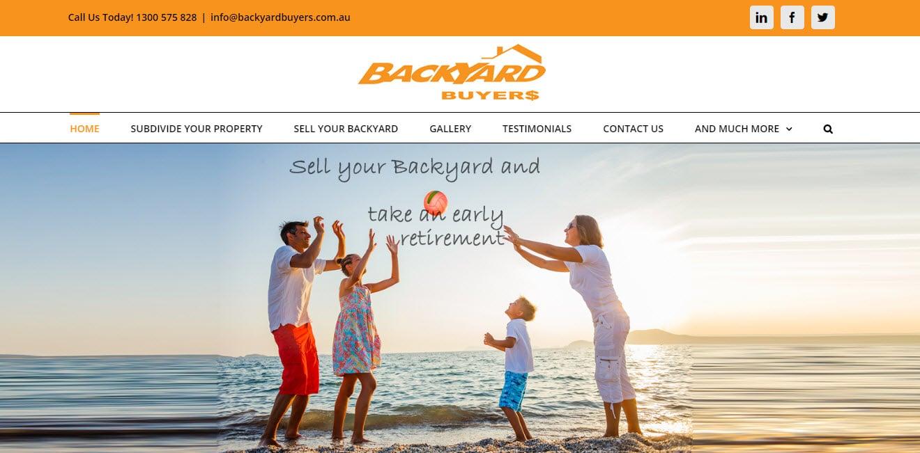 ZAAAX Design Web Design Client - Backyard Buyers