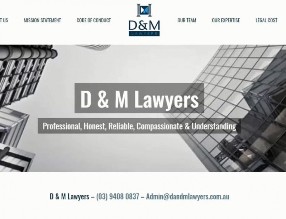 D & M Lawyers Web Design