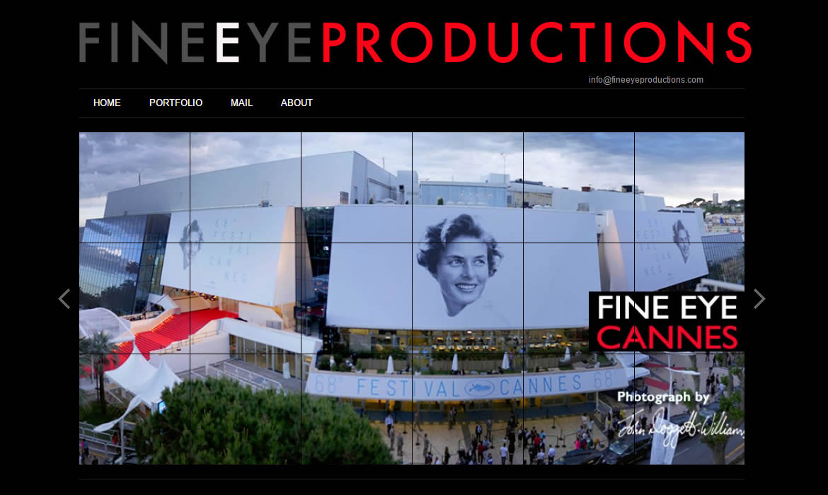Web Design - FineEye Productions Cannes