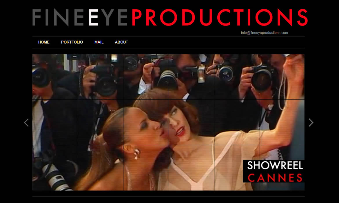 Web Design - FineEye Productions Stars x two