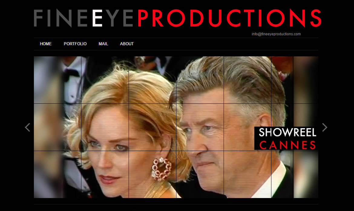 Web Design - FineEye Productions Stars