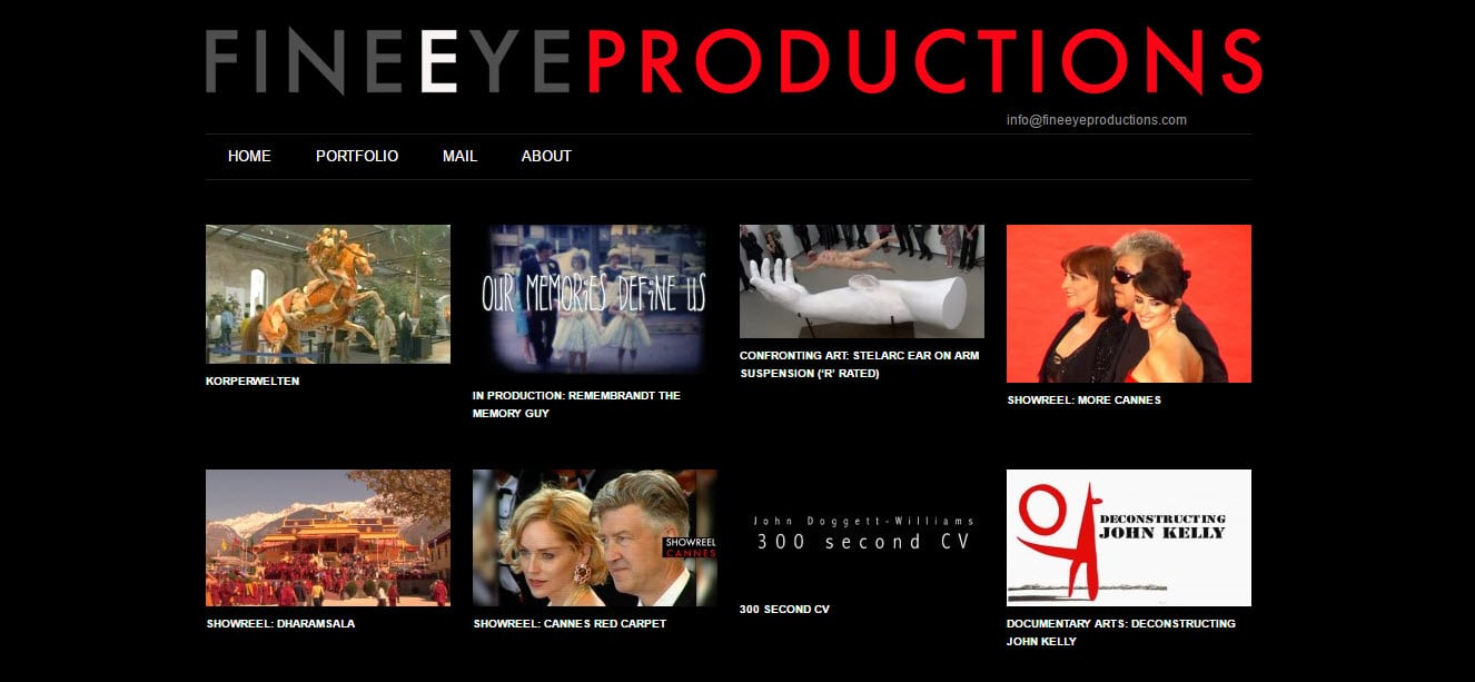 Web Design - Fine Eye Productions @ ZAAAX