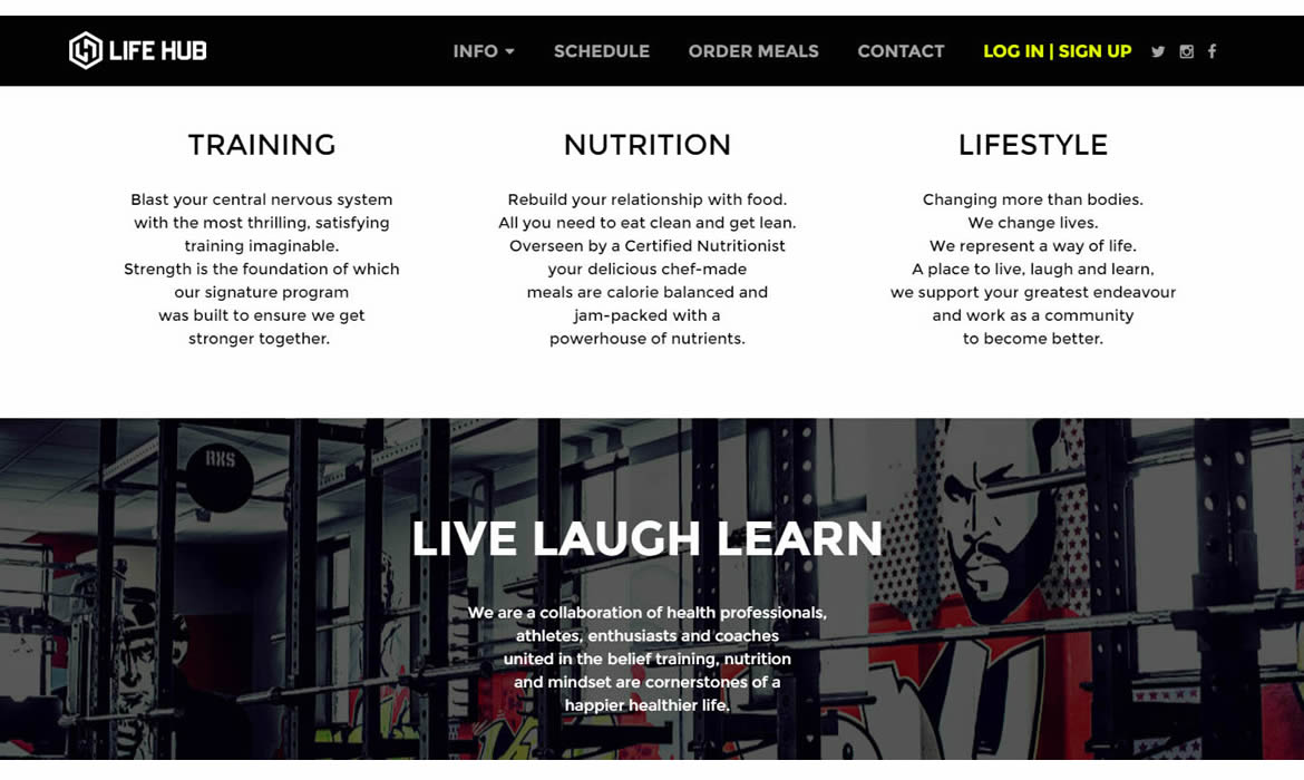 Web Design - Lifehub - Live Laugh Learn