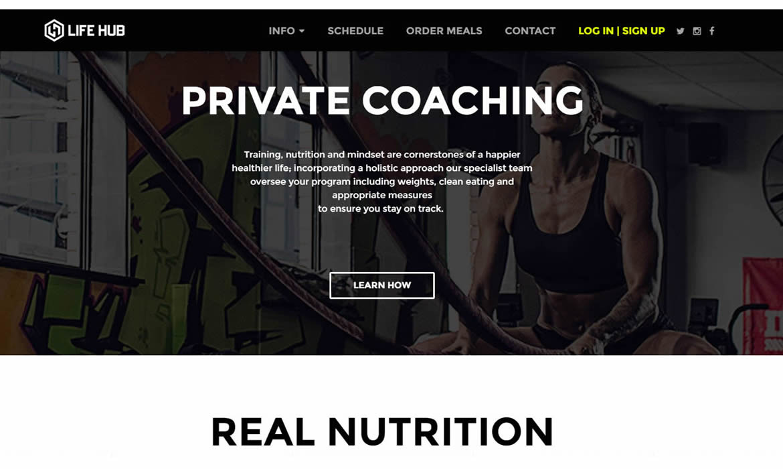 Web Design - Lifehub Private Coaching