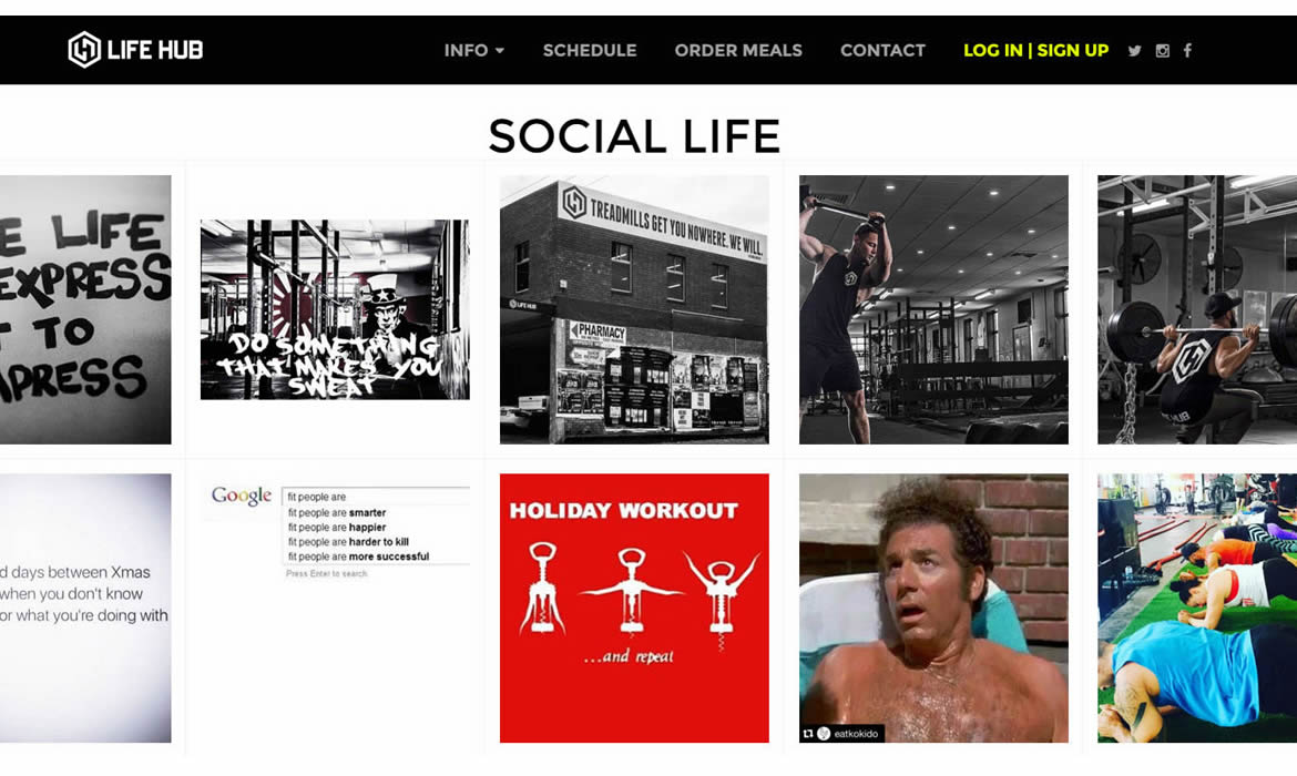 Web Design - Lifehub Social Life