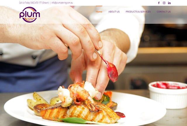 Website Designs at Plum Catering