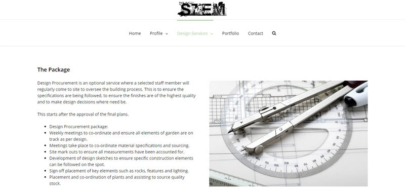 Stem Landscape Architecture and Design @ ZAAAX Web Design