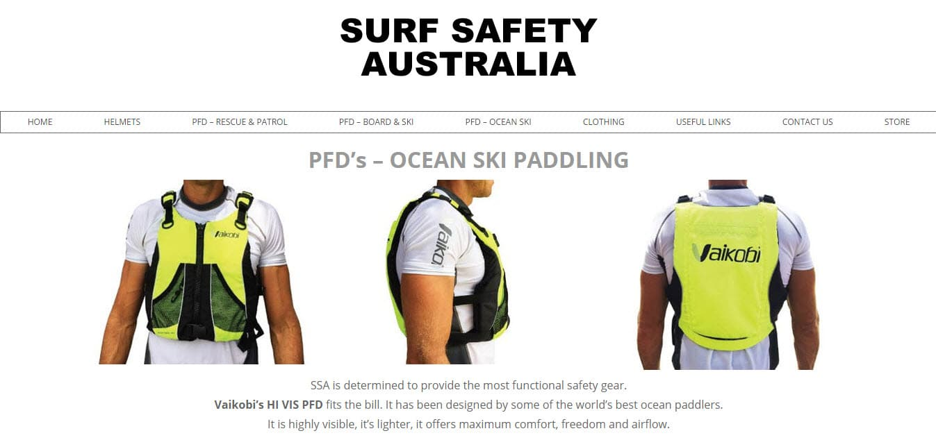 Web Design - Surf Safety Australia @ ZAAAX