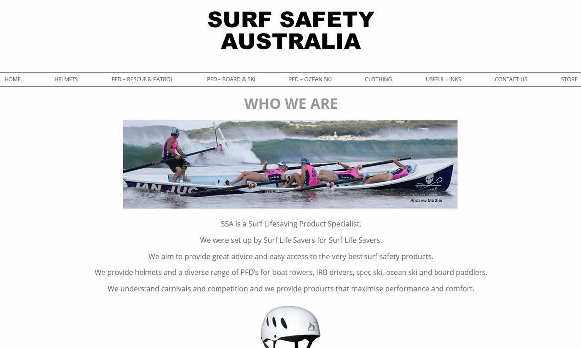 Surf Safety Australia - Web Design