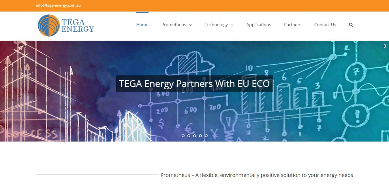 Web Design - Tega Energy @ ZAAAX