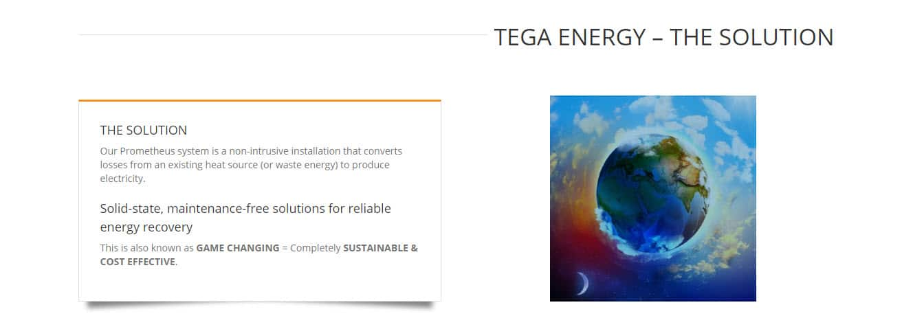 Web Design - Tega Energy @ ZAAAX Design