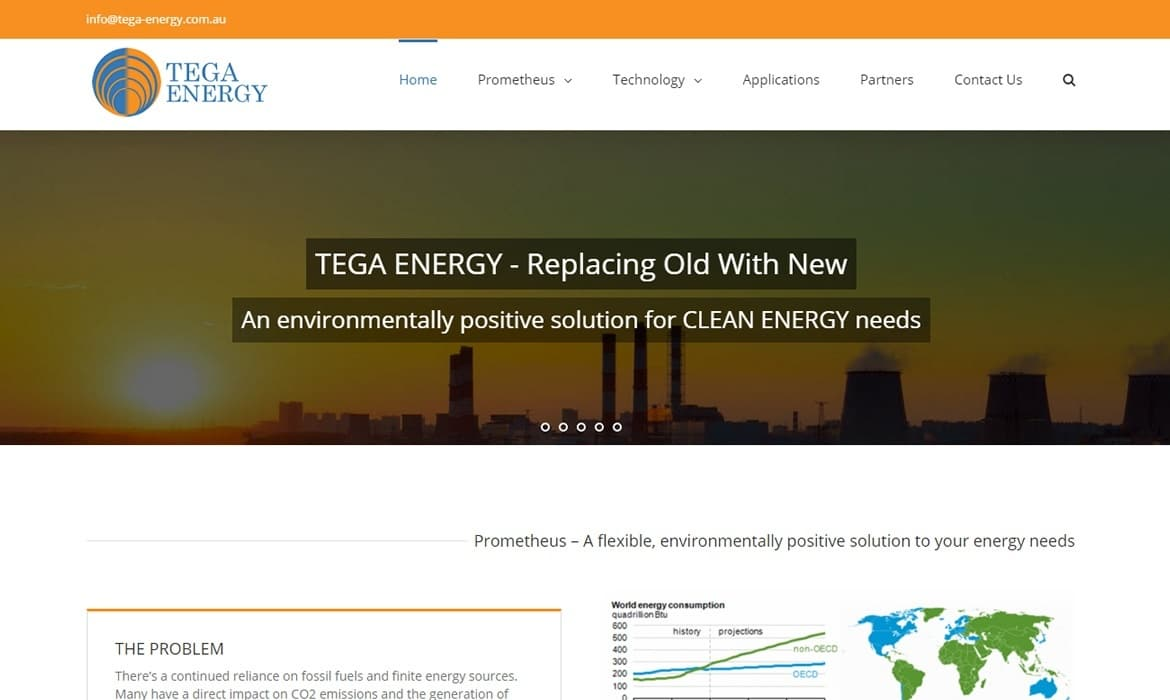 TEGA Energy - Web Design