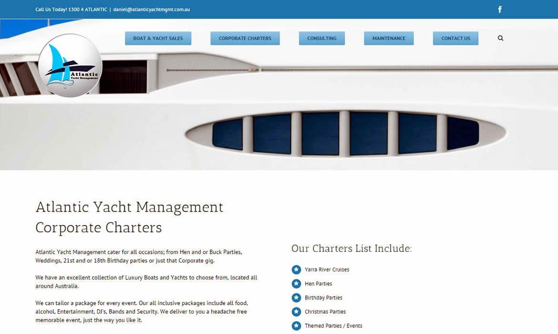 Web Design Atlantic Yacht Management